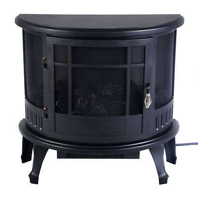 Free Standing Electric 1500W Fireplace Heater Fire Flame Stove Wood Adjustable by Standing (Image #2)