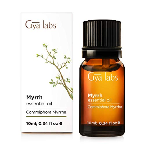 Myrrh Essential Oil - 100% Pure Therapeutic Grade for Skin, Gums and Diffuser (10ml) - Gya Labs