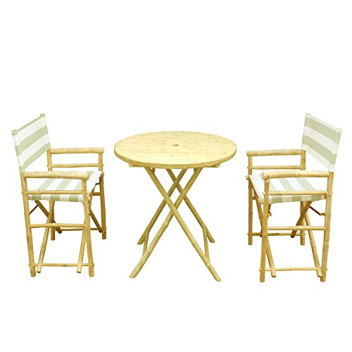 Cheap Phat Tommy Indoor and Outdoor Foldable Bistro Set with Round Table – for Backyard, Garden and Patio Furniture,Kiwi Stripe