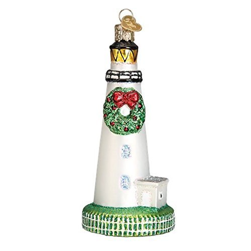 Old World Christmas Ocracoke Lighthouse Glass Blown Ornament