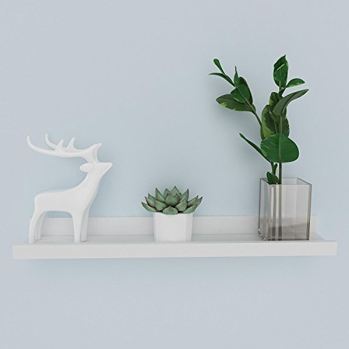 Cosway Wall Mounted Floating Ledge Shelf, Display Wall Shelves for Living Room Bedroom Decorative, 2 Sizes