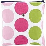 Yarn Pop Single Knitting Bag - Pink & Green Dots sale 2017