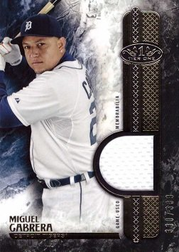 Games Cabrera Miguel (2016 Topps Tier One Relics #T1R-MCA Miguel Cabrera Game Worn Jersey Baseball Card – Only 399 made!)