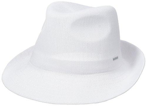 Hats Kangol Fedora (Kangol Men's Hiro Trilby, White, Medium)