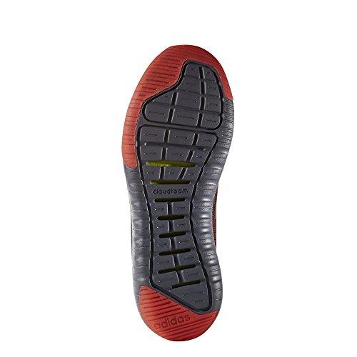 adidas Herren Cloudfoam Super Flex Gymnastikschuhe, Cblack/Cblack/Solred Nero (Negbas/Negbas/Rojsol)