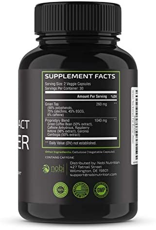 Nobi Nutrition Green Tea Fat Burner - Green Tea Extract Supplement with EGCG - Diet Pills, Appetite Suppressant, Metabolism & Thermogenesis Booster - Healthy Weight Loss for Women & Men 4