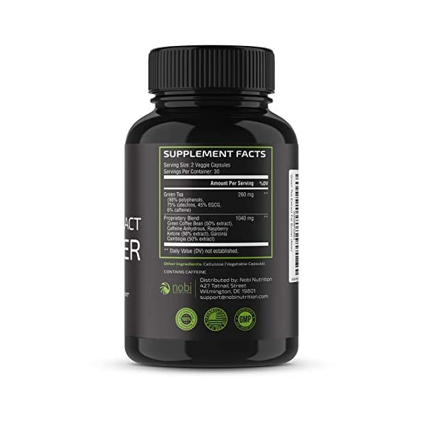 Health Shopping Nobi Nutrition Green Tea Fat Burner – Green Tea Extract Supplement with EGCG