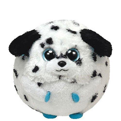 Ty Beanie Ballz 5  Plush Rascal The Small Dalmatian Dog Ball