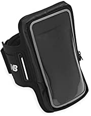 New Balance Running Phone Holder Armband Sleeve - Cell Phone Jogging Case Arm Strap | Water Resistant Athletic Workout Gym Exercise Fitness Accessories for Apple iPhone, Android for Samsung Galaxy
