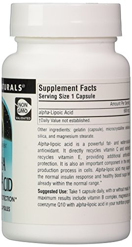 Source Naturals Alpha Lipoic Acid 600mg Antioxidant Protection amp Cell Metabolism Support - 30 Capsules Discount