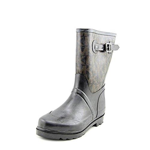 Michael Michael Kors Women's MK Logo Mid Rainboot Boot, Black, 8 M US
