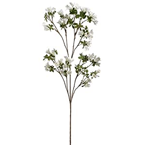 "53"" Rhododendron Silk Flower Stem -White (Pack of 6) 19"