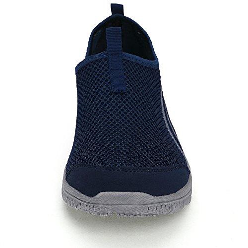 Lemai Flagship Donna Uomo Scarpe Da Corsa Moda Sneakers Traspiranti Sport Causali Ultra Leggero Blu Scuro