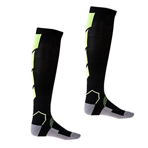 Et Paire Fitness Compression Chaussettes D'allaitement amp; Idales Vert Running De Les Voyage Noir Mdicales Pour 1 Perfk Vol AUFWqZPU