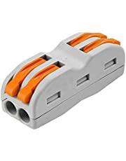 20 Pcs Lever-Nut Wire Connectors- Kalolary SPL-2 Compact Wire Wiring Connector Conductor Terminal Block for Junction Box Assortment
