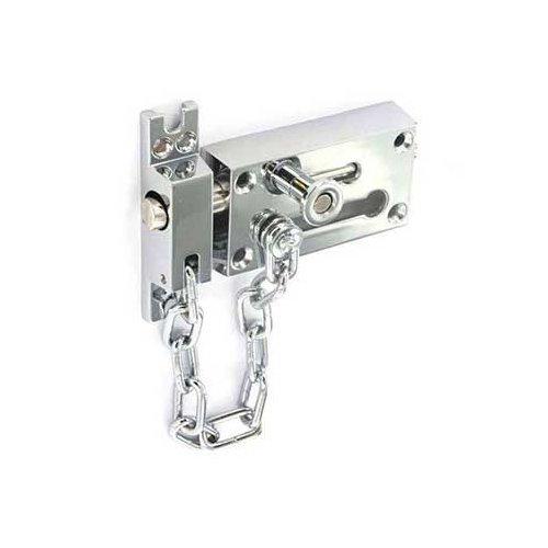 Chaîne de porte de sécurité Bolt de sécurité plaqué chrome Securit S1637