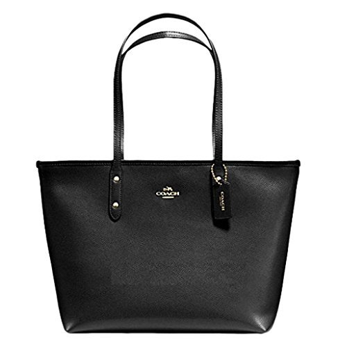 Coach 00_KWZBXZMT_02 City Crossgrain Leather Tote Bag, Black