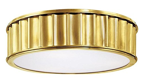 - Aged Brass Two Light Flushmount Ceiling Fixture from The Middlebury Collection