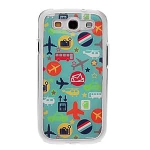 Planes de dibujos animados dibujo de la cubierta del gel del caso del patrš®n Neutral Stiffiness del silicš®n para Samsung Galaxy S3 I9300