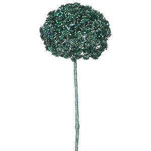 "SilksAreForever 19"" Glittered Allium Artificial Flower Stem -Peacock (Pack of 12) 6"
