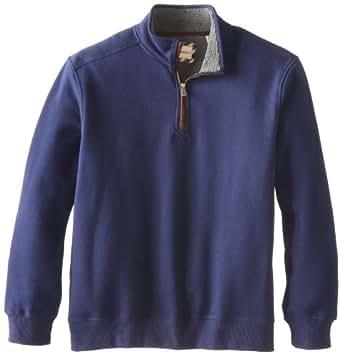 G.H. Bass & Co. Men's Long Sleeve Sueded Fleece Half Zip Mock With Sherpa