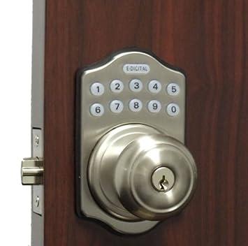 Lockey E-930 Electronic Keypad Knob Handleset with 6 User Codes and ...