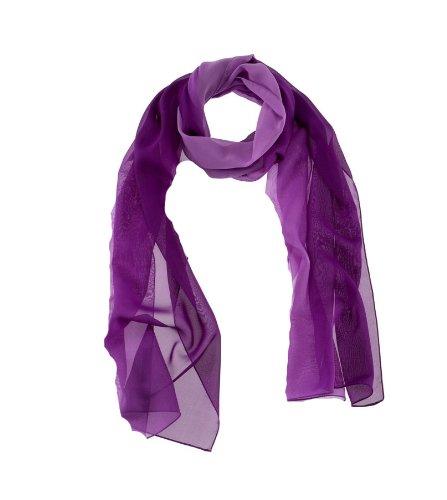 41b7126142b6b4 PASSIGATTI Polyester Chiffon Schal Ombree Nr.63559 (lila): Amazon.de ...