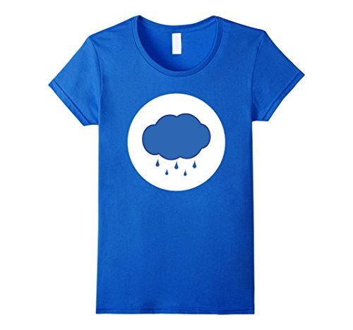Womens Rain Cloud Halloween Easy Costume Group T-Shirt XL Royal Blue
