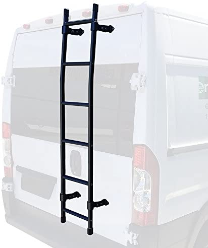 Transit Cargo /& Nissan NV and full-size vehicles White ProMaster Fits Sprinter Low Roof Vantech ear Access Ladder 68