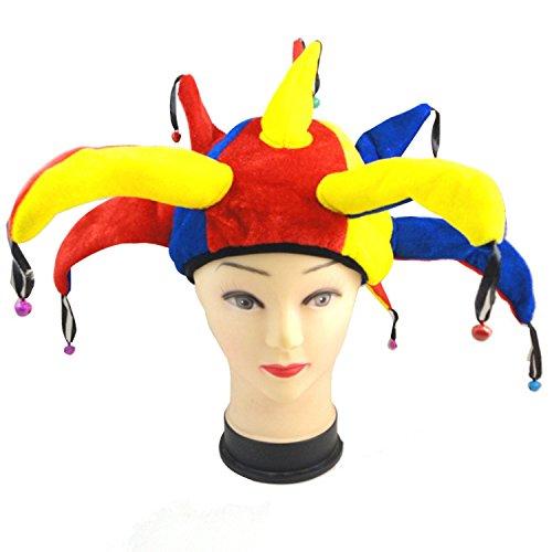 [Halloween Party Supplies Clown Joker Hat Cap Makeup Prop Accessories] (The Joker Halloween Costumes Makeup)