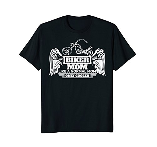 Biker Mom Motorcycle T-Shirt Skeleton Bike With Wings