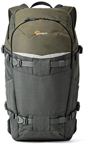 Lowepro Flipside Trek BP 350 AW Backpack (Gray/Dark Green) + Accessory Bundle For Canon, Nikon, Sony, Olympus, Pentax Digital SLR Cameras