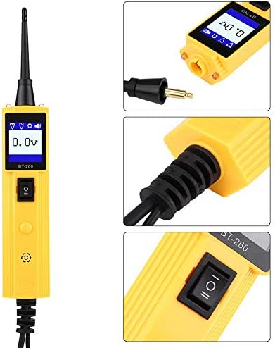 Yctze Car Circuit Tester, ABS Plastic Car Automotive Circuit Tester Electrical System Diagnostic Tool Power Probe Voltage Test Multi-language Support