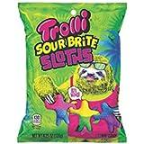 Trolli Sour Brite Sloths 4.25oz Bag, Gummy sour linkable sloths!