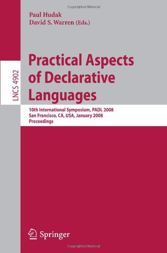 [PDF] Practical Aspects of Declarative Languages Free Download | Publisher : Springer | Category : Computers & Internet | ISBN 10 : 3540774416 | ISBN 13 : 9783540774419