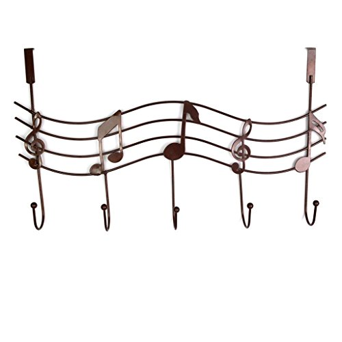Accessories And Music Gifts - Metal Music Style Hook Hanger Organizer Holder Decor Hanger Iron Gift (Brown)