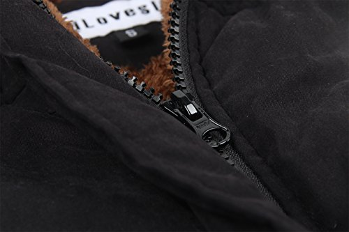Womens Faux Fur Coats Winter iLoveSIA Black Overcoats Warm Parkas Lined HXdwCq