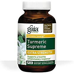 Gaia Herbs Turmeric Supreme Extra Strength Liquid Phyto-Capsules, 120 Count