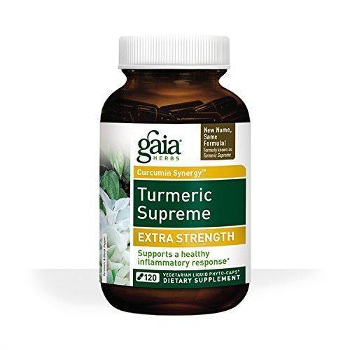 Gaia Herbs Turmeric Supreme Extra Strength Liquid Phyto-Capsules, 120 Count