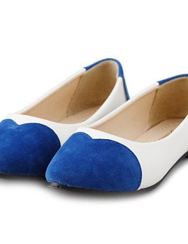 blue Flats us8 de talón mujer PDX punta Casual uk6 eu39 plano zapatos cn39 de azul sintética redonda verde negro piel rojo qxxwva