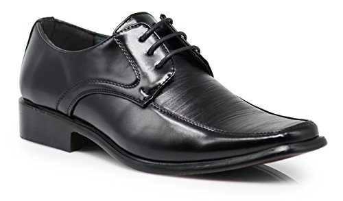Enzo Romeo Seth Men's Classic Oxfords Lace up Dress Shoes (12 D(M) US, Black) by Enzo Romeo