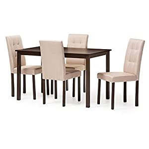 Baxton Studio Andrew 5 Piece Dining Table Set