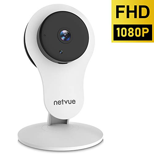 Indoor Camera, 1080P Home Security Camera (2nd Generation) - Wireless Camera with Motion Detection, Cloud Storage 24s Smart-Clip, Two Way Audio, Night Vision Indoor Security Camera Alexa Compatible