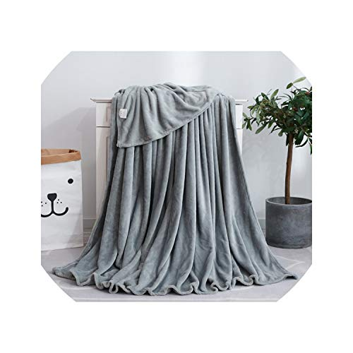 - Soft Winter Coral Fleece Blanket Warm Sheet Bedspread Solid Sofa Cover Light Thin Mechanical Wash Flannel Throw Blankets,010,180x200cm