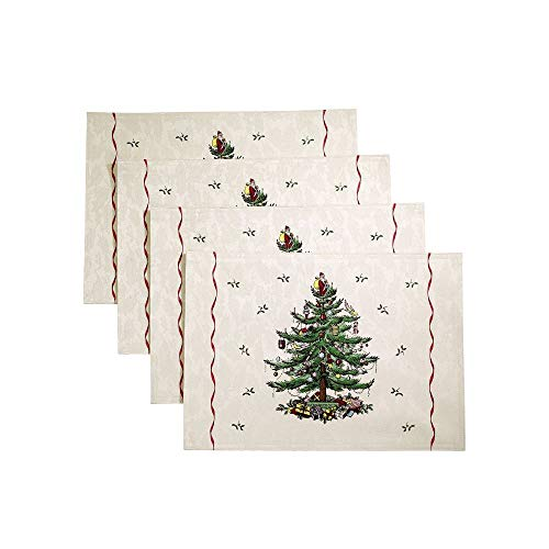 Spode Christmas Tree Placemats Set Of 4