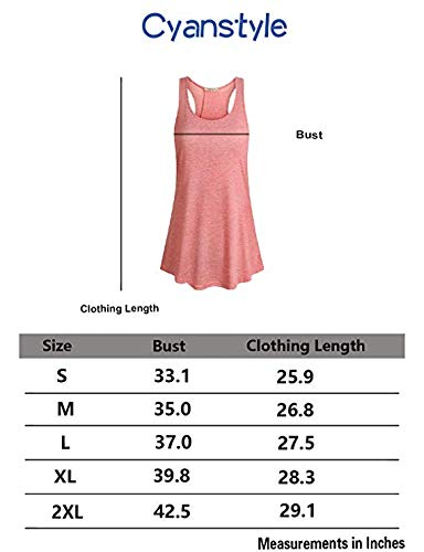 Cyanstyle Athletic Clothes Women Sexy Tops Juniors U Neck Sleeveless Drape Hem Swing Tunic Sports Working Out Ribbed Cross Back Tank Shirts Casual Activewear Dark Grey M