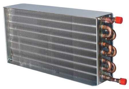 Heat Coil, 375cfm, 0.9gpm, 6x6-1/8x12-3/8''