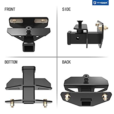 Tyger Auto TG-HC3D002B Class 3 Hitch & Cover Kit Fits 2003-2020 Dodge Ram 1500 & 2003-2013 Ram 2500/3500 Factory Style 2 inch Rear Receiver Hitch Tow Towing Trailer Hitch Combo Kit: Automotive