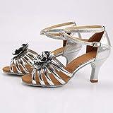Women's High Heel Sandals Dress Pump Ballroom Latin Salsa Dance Shoes Flower Casual Sandals Open Toe Wedding Shoesls