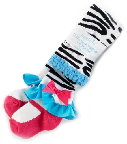 Mud Pie Baby Girls' Zebra Tights